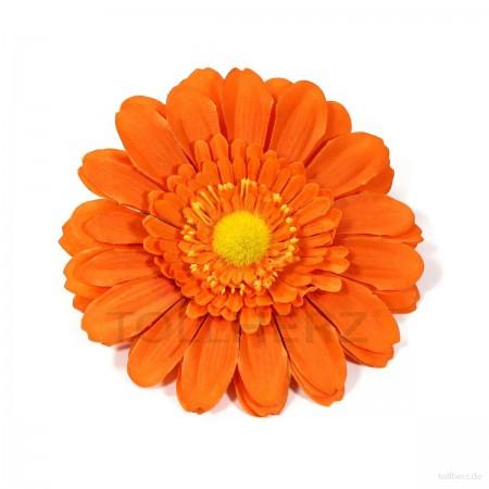 AB-114 Ansteckblume, Haarblume Gerbera in orange, Ø ca. 13 cm, Höhe ca. 3 cm
