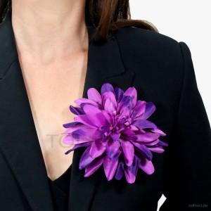 AB-120 Ansteckblume, Haarblume Dahlie in violett, Ø ca.15 cm, Höhe ca. 3,5 cm