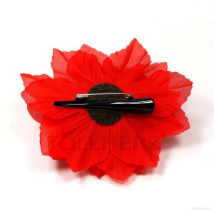 AB-126 Ansteckblume, Haarblume Dahlie in rot, Ø ca. 13 cm, Höhe ca. 4,5 cm