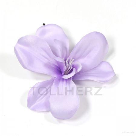 AB-132 Haarblüte, Haarblume in hellviolett, Ø ca. 8,5 cm, Höhe ca. 2 cm