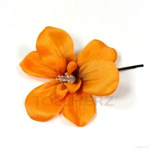 AB-133 Haarblüte, Haarblume in orange, Ø ca. 8,5 cm, Höhe ca. 2 cm