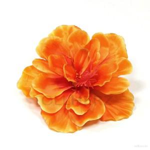 AB-134 Haarblüte, Haarblume Hibiskus in orange, Ø ca. 13 cm, Höhe ca. 6 cm