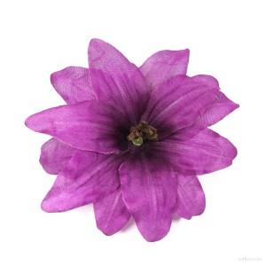 AB-136 Haarblüte, Haarblume Lilie in violett, Ø ca. 12 cm, Höhe ca. 5 cm