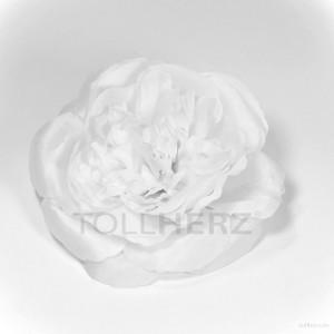 AB-174 Haarrose, Ansteckrose, weiß, Ø ca. 12 cm, Höhe ca. 4,5 cm