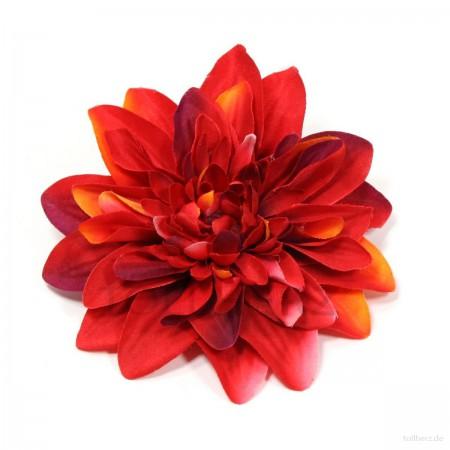 AB-177 Ansteckblume, Haarblume Dahlie, rot, Ø ca. 12 cm, Höhe ca. 2,5 cm