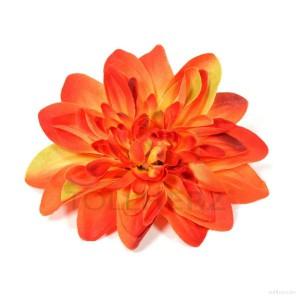 AB-178 Ansteckblume, Haarblume Dahlie, orange, Ø ca. 12 cm, Höhe ca. 2,5 cm