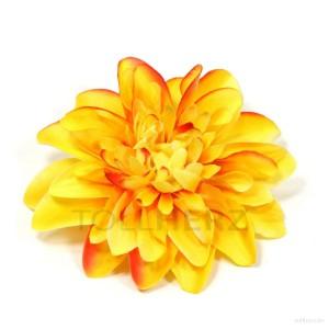 AB-179 Ansteckblume, Haarblume Dahlie, gelb, Ø ca. 12 cm, Höhe ca. 2,5 cm
