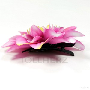AB-180 Ansteckblume, Haarblume Dahlie, pink-gelb, Ø ca. 12 cm, Höhe ca. 2,5 cm