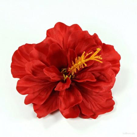AB-188 Haarblüte, Haarblume Hibiskus in rot, Ø ca. 13 cm, Höhe ca. 6 cm