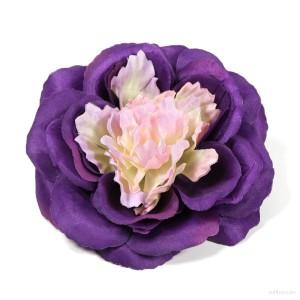 AB-194 Ansteckrose, Haarrose, violett-rosa, Ø ca. 12 cm, Höhe ca. 4,5 cm