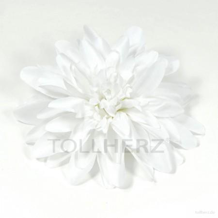 AB-197 Ansteckblume, Haarblume Dahlie in weiß, Ø ca.15 cm, Höhe ca. 3,5 cm