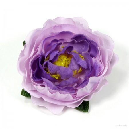 AB-198 Ansteckrose, Haarrose, Pfingstrose in violett-flieder, Ø ca. 6 cm, Höhe ca. 2,5 cm