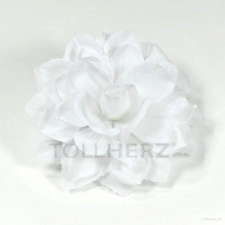 AB-200 Ansteckblume, Haarblume Dahlie in weiß, Ø ca. 13 cm, Höhe ca. 4,5 cm