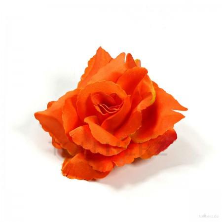 AB-207 Haarrose, Ansteckrose in orange, Ø 10,5 cm, Höhe ca. 4,5 cm