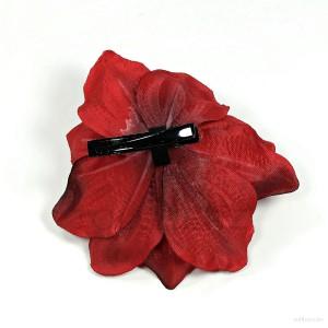 AB-220 Haarblüte, Haarblume Amaryllis in rot, Ø ca. 11 cm, Höhe ca. 5 cm