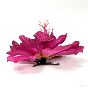 AB-226 Haarblüte, Haarblume Hibiskus in dunkelpink, Ø ca. 13 cm, Höhe ca. 6 cm