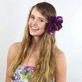 AB-228 Haarblüte, Haarblume Hibiskus in purpurviolett, Ø ca. 13 cm, Höhe ca. 6 cm