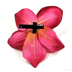 AB-240 Hawaiiblüte, Haarblume Orchidee in magenta-fuchsia, Ø ca. 12 cm, Höhe ca. 4 cm