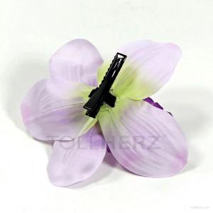 AB-241 Hawaiiblüte, Haarblume Orchidee in pastellviolett, Ø ca. 12 cm, Höhe ca. 4 cm