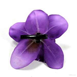 AB-242 Hawaiiblüte, Haarblume Orchidee in violett, Ø ca. 12 cm, Höhe ca. 4 cm