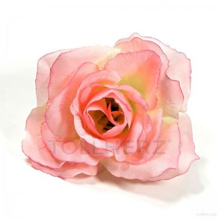 AB-245 Ansteckrose, Haarrose in pastell-cream-pink, Ø ca. 12 cm, Höhe ca. 5,5 cm