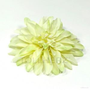 AB-256 Ansteckblume, Haarblume Dahlie in pastellgrün, Ø ca.15 cm, Höhe ca. 3,5 cm