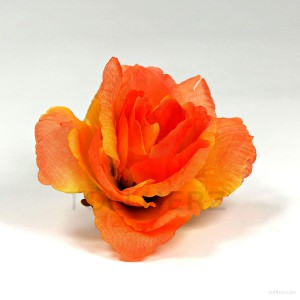 AB-259 Haarrose, Ansteckrose in orange-apricot, Ø 9 cm, Höhe ca. 4 cm