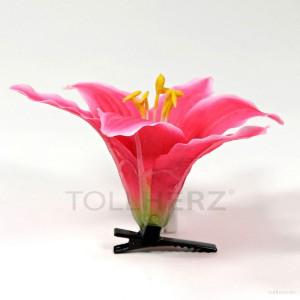AB-270 Hawaiiblüte, Haarblume Lilie in pink, Ø ca. 13 cm, Höhe ca. 6 cm