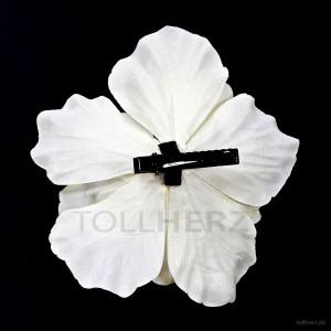 AB-273 Haarblüte, Haarblume Hibiskus in weiß, Ø ca. 13 cm, Höhe ca. 6 cm