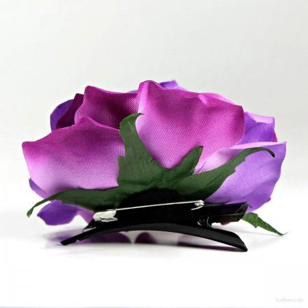 AB-281 Ansteckrose, Haarrose, violett-pink, Ø ca. 10,5 cm, Höhe ca. 5 cm