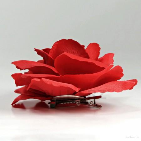 AB-285 Haarrose, Ansteckrose in rot, Ø 10,5 cm, Höhe ca. 4,5 cm