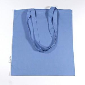 Rückseite der Trage- und Schultertasche in hellblau, 38x42 cm