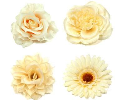 Kategorie Ansteckblumen und Haarblumen in beige und creme
