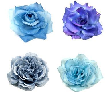 Kategorie Ansteckblumen und Haarblumen in blau