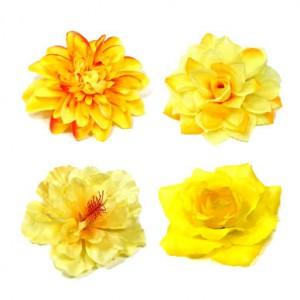 Kategorie Ansteckblumen und Haarblumen in gelb und lemon